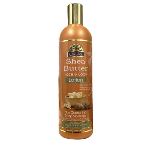 Shea Butter Lotion for Face & Body  - Instant Moisturizer- Heals Skin-  Essential For Daily Protection -Helps Restore Elasticity- Achieve Soft, & Radiant Skin-  Silicone, Paraben Free For All Skin Types- Made in USA 16oz / 473ml