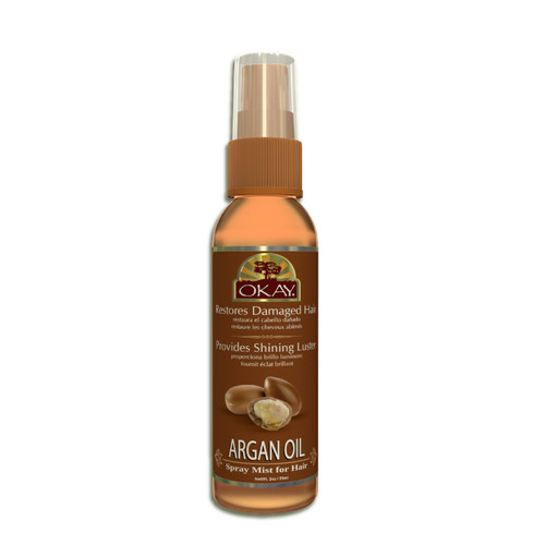 Argan Spray Mist Oil For Hair- Helps Stop Roughness Of Hair -Enhances Elasticity, Manageability, & Shine- Paraben Free For All Skin & Hair Types and Textures - Made in USA   2oz / 59ml
