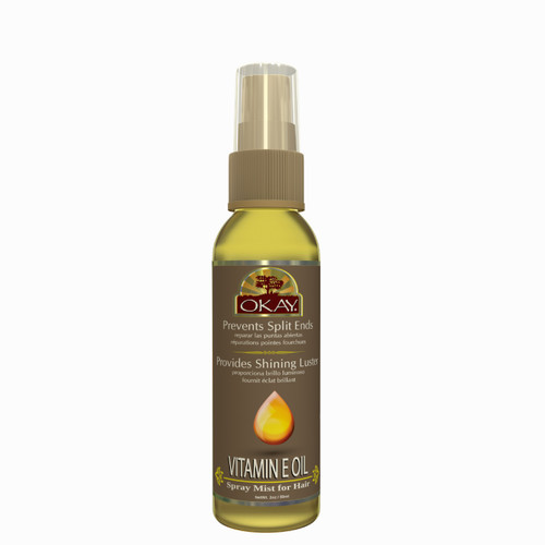 Vitamin E Spray Mist Oil For Hair- Helps Prevents Split Ends- Repairs Damage Caused By Heat And Chemical Treatment- Paraben Free For All Skin & Hair Types and Textures - Made in USA  2oz / 59ml