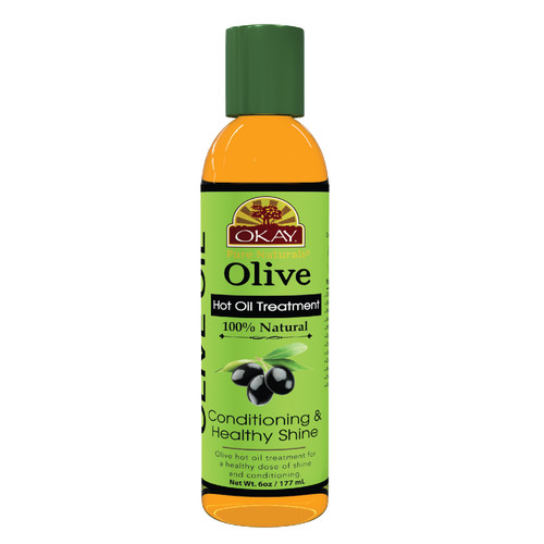 OKAY  Olive Conditioning Hot Oil Treatment Restores Hair -Nourishes, Smoothes Cuticle-Improves Hair Appearance-  Silicone, Paraben Free For All Hair Types and Textures -6oz / 177ml