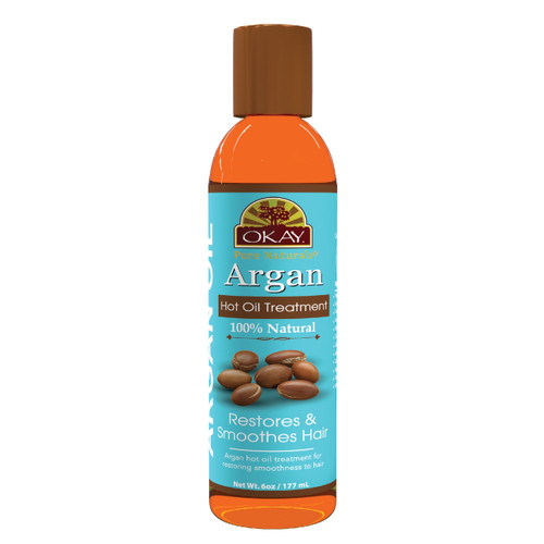 Argan Hot Oil Treatment for Restorative - Restores Damaged Hair -Nourishes, Smoothes The Hair Cuticle-Improves Hair Appearance- Silicone, Paraben Free For All Hair Types and Textures - Made in USA 6oz / 177ml