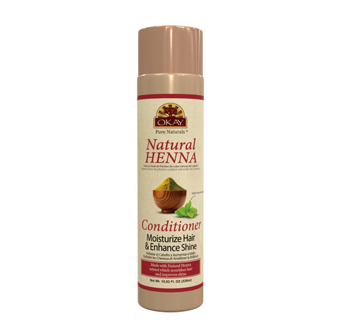 Natural Henna Conditioner -Formulated To Restore Moisture  - Improves Appearance  & Feel Of Hair- Revitalizes Damaged Hair- Nourishing Henna Extracts- Sulfate, Silicone, Paraben Free For All Hair Types and Textures - Made in USA10.82oz