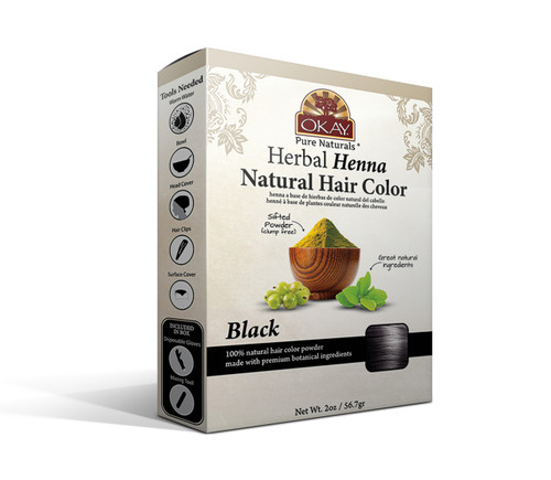 Herbal Henna Hair Color Black- Natural Hair Coloring Solution- Free Of Harmful Chemicals -Provides Rich Vibrant Color-  Adds Nourishing Properties - Leaves Hair Soft And Shiny- For All Hair Types & Textures- Made In USA   2oz