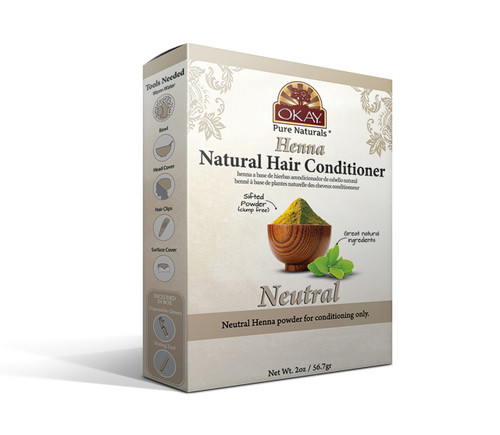 Herbal Henna Hair Color Neutral Henna- Natural Hair Coloring Solution- Free Of Harmful Chemicals -Provides Rich Vibrant Color-  Adds Nourishing Properties - Leaves Hair Soft And Shiny- For All Hair Types & Textures- Made In USA   2oz