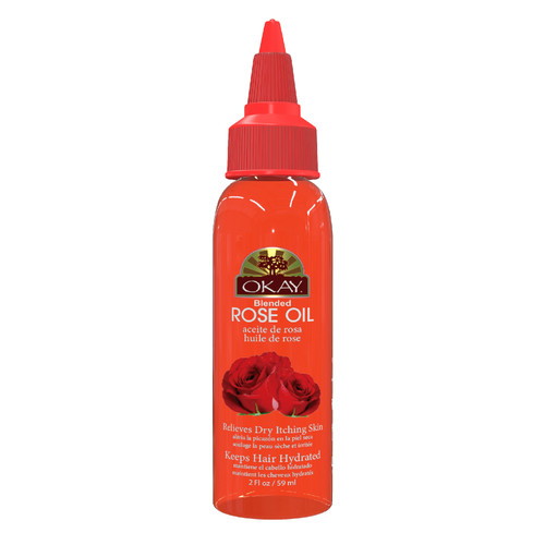 Rose Blended Oil for Hair & Skin- Keeps Hair Properly Hydrated And Moisturized-  Helps Relieve Inflammation- Soothes Irritated Skin - Paraben Free For All Skin & Hair Types and Textures - Made in USA    2oz