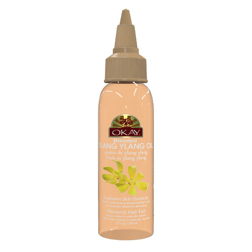 Ylang Ylang Blended Oil for Scalp, Hair, & Skin-  Helps Nourish And Strengthen Hair Follicles-  Helps Prevent Hair Fall-  Helps Prevents Oily Skin Buildup - Paraben Free For All Skin & Hair Types and Textures - Made in USA  2oz