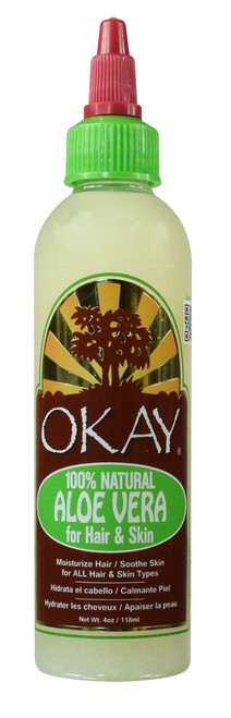 Aloe Vera for Hair & Skin -Delivers Deep, Long-Lasting Hydration- Moisturizes Hair & Skin- Soothes Dry Skin - For All Hair Textures And All Skin Types- Silicone, Paraben Free - Made in USA 4oz / 118ml