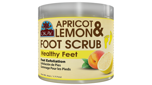 Apricot and Lemon Foot Scrub - Nourishes And  Naturally Removes Dead Skin- Thoroughly Exfoliates Rough Skin On The Feet, Leaving Feet Velvety Soft & Renewed - No Parabens, No Silicones, No Sulfates - For All Skin Types -  6oz / 170gr