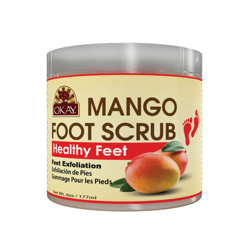 Mango Foot Scrub - Contains Skin Rejuvenating Properties- Thoroughly Exfoliates Rough Skin On The Feet, Leaving Feet Velvety Soft & Renewed - No Parabens, No Silicones, No Sulfates - For All Skin Types - 6oz / 170gr