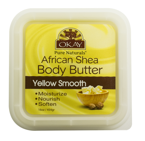 Shea Butter Yellow Smooth Deep Moisturizing- All Natural, 100% Pure- Unrefined-Rich In Nutrients, Keeps Skin Soft ,Promotes Healthy Skin - Silicone, Paraben Free For All Skin Types. Made in USA 16 oz
