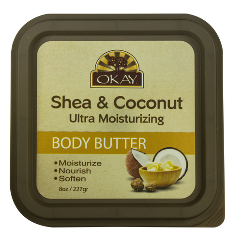 Shea & Coconut Ultra Moisturizing Body Butter- Rich In Nutrients, Keeps Skin Soft ,Promotes Healthy Skin -Silicone, Paraben Free For All Skin Types. Made in USA 8oz/277gr