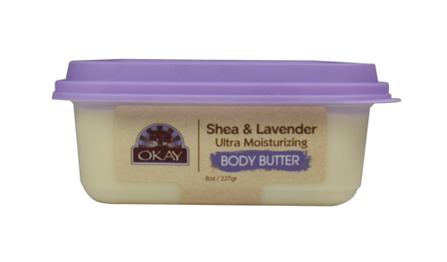 Shea & Lavender Ultra Moisturizing Body Butter- Rich In Nutrients, Soothing Scent, Keeps Skin Soft ,Promotes Healthy Skin -Silicone, Paraben Free For All Skin Types. Made in USA 8oz/277gr