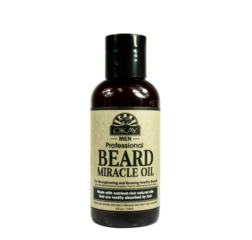 Beard Miracle Oil for Men- Helps To Soften, Moisturize, Hydrate Beard  -Sulfate, Silicone, Paraben Free For All Hair Types & Textures. Made in USA 4oz/118ml