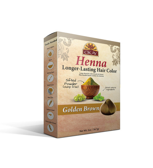 Henna Longer-Lasting Hair Color - Golden Brown-Provides Rich Vibrant Color-  Adds Nourishing Properties - Leaves Hair Soft And Shiny- For All Hair Types & Textures- Made In USA 2oz/56.7gr