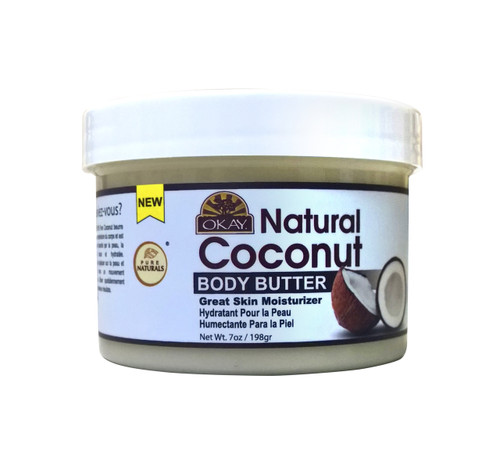 Coconut Butter 100% Natural Smooth for Skin and Hair- Easily Absorbed By the Skin & Hair Leaving It Soft & Moisturized - Silicone, Paraben Free For All Skin & Hair Types - Made in USA7oz / 198Gr