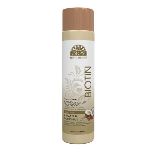 OKAY Roots Therapy® Biotin, Argan & Coconut Professional Anti-Dandruff Shampoo- Controls & Relieves Irritation/Flakes Of  Scalp- Effective, Fast-Acting Dandruff Relief. -Sulfate, Silicone, Paraben Free For All Hair Types and Textures