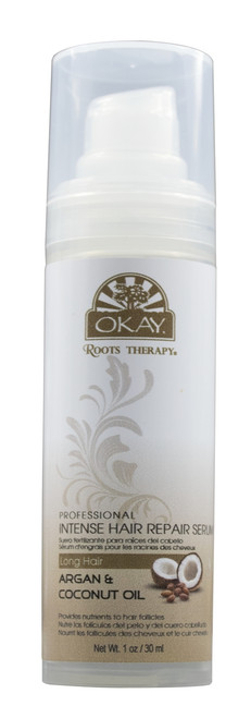 Roots Therapy® Argan & Coconut Professional Intense Hair Repair Serum- Provides Hair Follicle And Scalp Oils & Minerals- Stimulates Hair Growth. -Sulfate, Silicone, Paraben Free For All Hair Types and Textures  - Made in USA 1oz/30ml