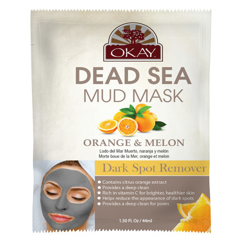 Dead Sea Mud Mask Orange & Melon-  Helps Reduce Appearance Of Dark Circles, Dullness, Dark spots, & Uneven Skintone- Nourishes & Replenishes- Promotes Healthy Skin- Made In USA 1.50 fl.oz /44ml