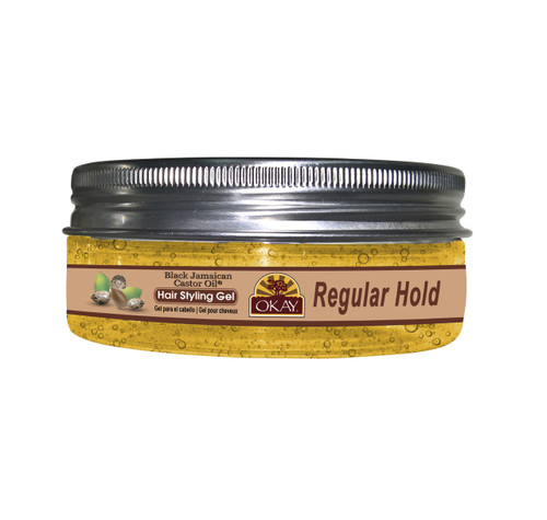 Black Jamaican Castor Oil Hair Gel -Regular Hold- Healthy Conditioning Shine, Leaves Hair Smooth, Conditions Hair- No flakes, No stick, No Itch, And Alcohol-Free, For All Hair Types And Textures - Made in USA    5 oz