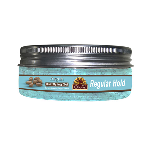 Argan Hair Gel-Regular Hold- Healthy Conditioning Shine, Leaves Hair Smooth, Conditions Hair- No flakes, No stick, No Itch, And Alcohol-Free, For All Hair Types And Textures - Made in USA    5 oz