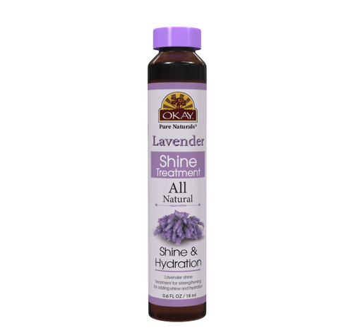 OKAY Lavender Nourishing & Strengthening Shine Treatment - Soft, Smooth, Enhanced Shine And Strong Hair- Created With 12 Natural Oils-No Parabens, No Silicones, No Artificial Colors  - For All Hair Types And Textures - Made in USA  0.6 oz/18 ml