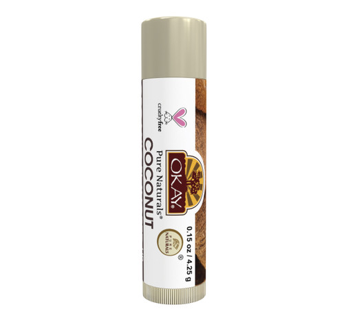 Organic Flavor Lip Balm Tube - Coconut - Formulated With Organic Ingredients - Helps Moisturize, Soothe, And Protect Lips- Silicone, Paraben Free For All Skin Types - Made in USA 0.15oz/4gr