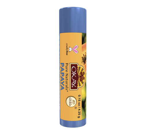Organic Flavor Lip Balm Tube - Papaya - Formulated With Organic Ingredients - Helps Moisturize, Soothe, And Protect Lips- Silicone, Paraben Free For All Skin Types - Made in USA -  0.15oz/5gr