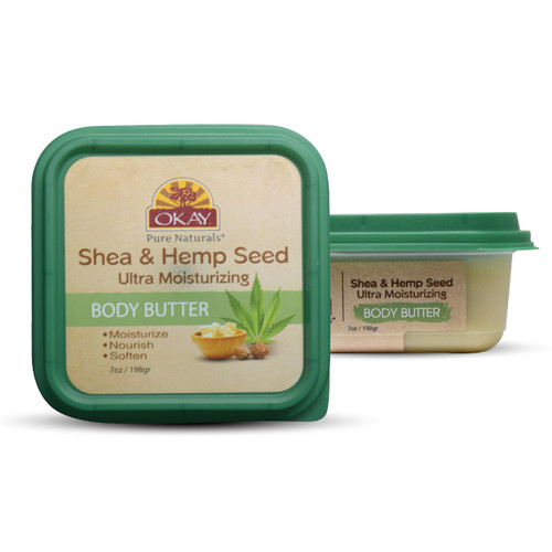 Shea & Hemp Ultra Moisturizing Body Butter- Rich In Nutrients, Keeps Skin Soft ,Promotes Healthy Skin - Silicone, Paraben Free For All Skin Types. Made in USA 8oz/277gr
