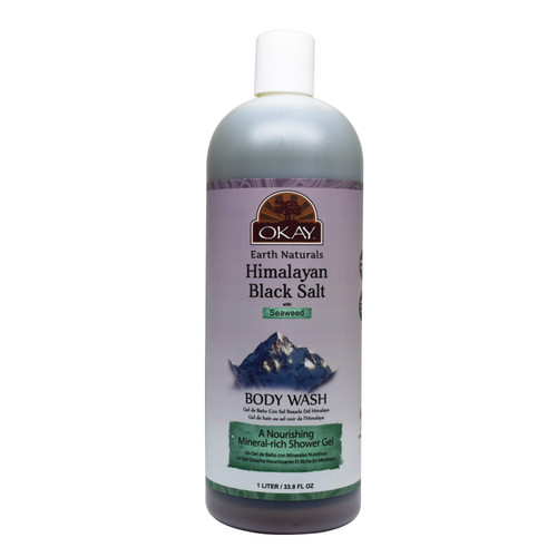 Himalayan Black Salt with Seaweed Body Wash- Refreshing And Nourishing- Leave Skin Feeling Cleansed And Pampered - Contains Minerals Known For Nourishing Skin- No Parabens, No Silicones, No Sulfates - For All Skin Types  33.8oz / 1Liter