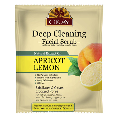Apricot Lemon Facial Scrub for Deep Cleaning - Removes Dirt, And Oil- leaves Skin Freshly Cleansed, Moisturized & Energized- Helps Clear Blemishes, Minimize Pores, Leaves Skin Smooth - Alcohol, Sulfate, Paraben Free - Made in USA  1.50 fl.oz /44ml