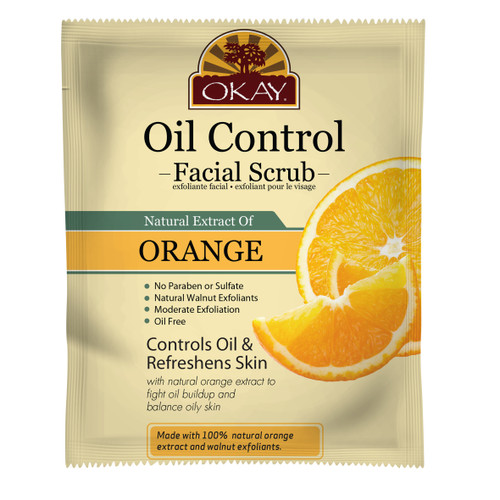Orange Facial Scrub for Oil Control- Deeply Exfoliates- Removes Dirt- Leaves Skin Freshly Cleansed, Moisturized & Energized- Helps Clear Blemishes, Minimize Pores, Leaves Skin Smooth - Alcohol, Sulfate, Paraben Free - Made in USA  1.50 fl.oz /44ml