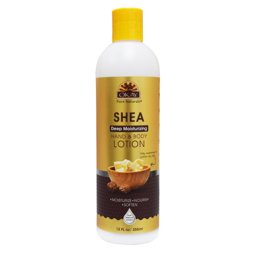 Shea Deep Moisturizing Body Lotion- Moisturize, Nourish, Soothe, Soften Skin- Repairs Damaged Skin- Silicone, Paraben Free For All Skin Types- Made in USA 12oz / 355 ml