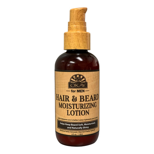 Men Hair & Beard Moisturizing Lotion Helps Soften, Hydrate, And Moisturize Beard -Sulfate, Silicone, Paraben Free For All Hair Types & Textures. Made in USA4oz / 118ml