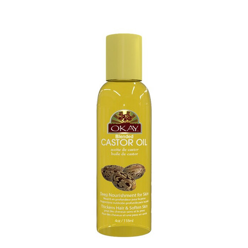 Castor Blended Oil for Hair, Skin & Body- Helps Grow, Thicken & Strengthen Hair-Promotes Healthy Looking Soft Skin- Help Make Skin Soft, & Silky-For All Hair Textures & Skin Types- Paraben Free -Made in USA  4oz / 118ml