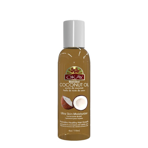 Coconut Blended Oil for Hair & Skin- Softens Hair-Promotes Natural Healthy Hair Growth - Moisturizes Skin- Treats Dandruff- Delays Wrinkles & Sagging Of Skin- For All Hair Textures & Skin Types- Paraben Free -Made in USA 4oz / 118ml