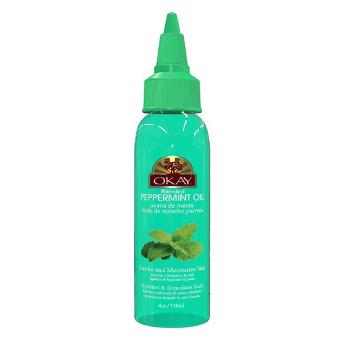 Peppermint Blended Oil for Scalp, Hair & Skin -  Helps Balance Oily Hair- Stimulates Hair Follicles- Great For Soothing Skin & Moisturizing - Paraben Free For All Skin & Hair Types and Textures - Made in USA 4oz / 118ml