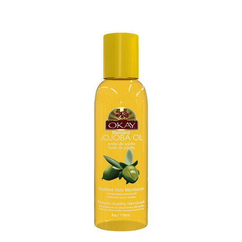 Jojoba Blended Oil for Hair & Skin-Stimulates Hair Growth-Nourishes & Moisturizes Skin-Excellent for Dry Scalp-Improves Hair Quality-Easily Absorbed by Skin-For All Hair Textures & Skin Types- Paraben Free -Made in USA 4oz / 118ml