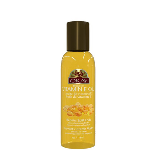 Vitamin E Blended Oil for Hair, Skin & Nail-Excellent Moisturizer-Prevents & Fades Stretch Marks-Treat Psoriasis & Eczema- Repairs Split Ends & Damaged Hair-For All Hair Textures And All Skin Types-  Paraben Free - Made in USA  4oz / 118ml