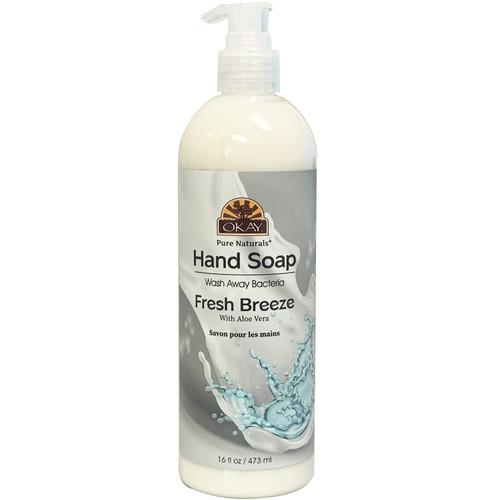 OKAY Hand Soap Liquid Fresh Breeze- Infused With Aloe Vera- Washes Away Bacteria- 16 oz/473 ml