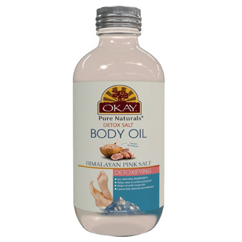 OKAY Himalayan Pink Salt Body Oil with Lavender and Rose Oil 4oz