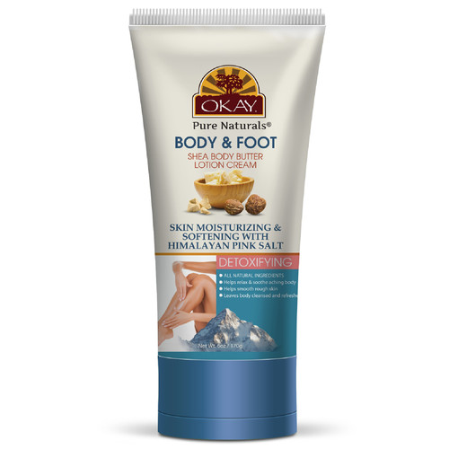 Okay Pure Naturals- Shea Butter & Pink Himalayan Salt Body & Foot Lotion 6oz / 43gr