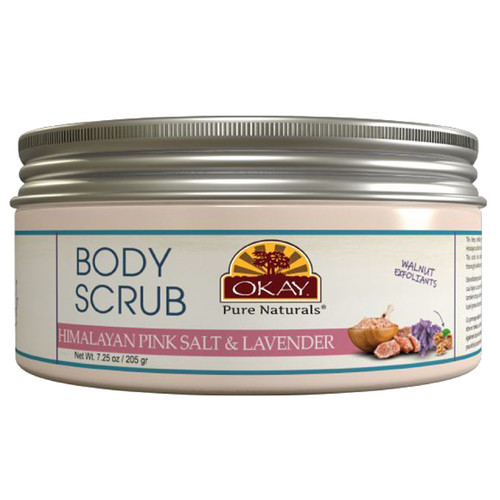 OKAY Pure Naturals- Body & Foot Scrub Himalayan Pink Salt & Lavender 7.25oz /