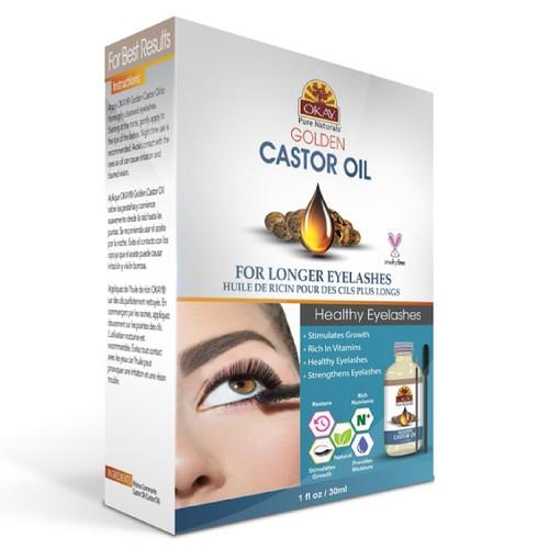 OKAY Golden Castor Oil Longer Eyelashes 1oz