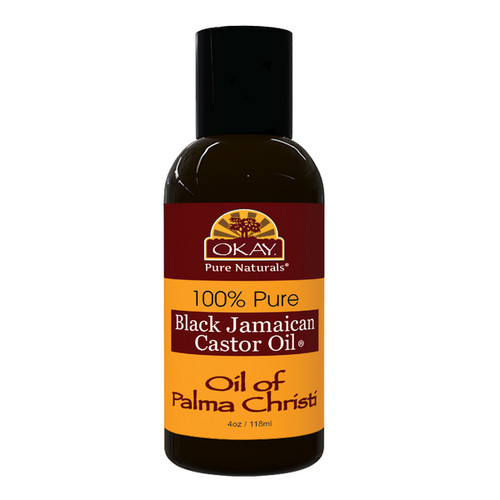 OKAY Pure Naturals Black Jamaican Castor Oil - Helps Soothe Scalp & Skin- Helps Treat Skin Conditions-  Helps Naturally Grow Strong Healthy Hair, Helps Balance Oily Hair, Stimulate Hair Follicles - For all Hair & Skin Types- 4oz / 118ml