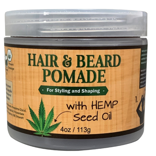 OKAY Men's Hemp Pomade For Hair & Beard for Styling And Shaping 4oz