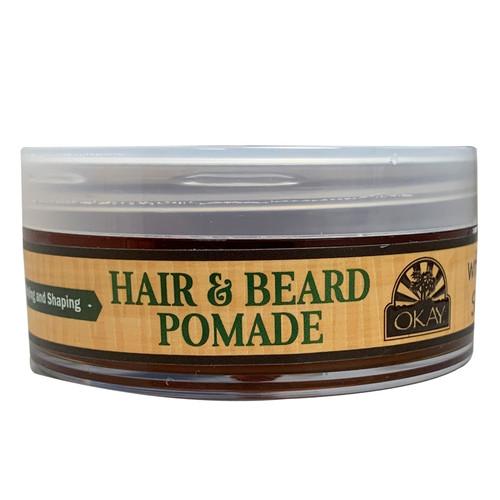 OKAY Men's Hemp Pomade For Hair & Beard for Styling And Shaping 2oz