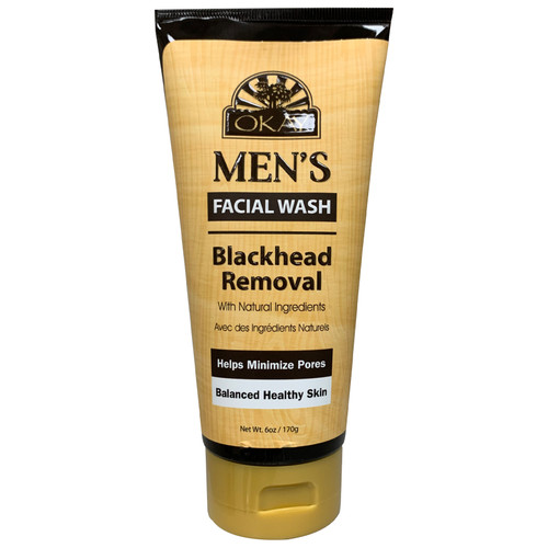 OKAY Men's Facial Wash, Blackhead Removal, With Natural Ingredients, Removes Excess Oils, Helps Minimize Pores, Balances Healthy Skin,   6oz