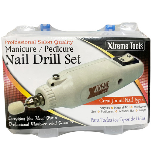 Xtreme Tools Professional Salon Quality Manicure/ Pedicure Nail Drill Set. Great For All Nail Types. Acrylics, Natural Tips, Manicures, Gels, Pedicures, Artifical Tips, Wraps