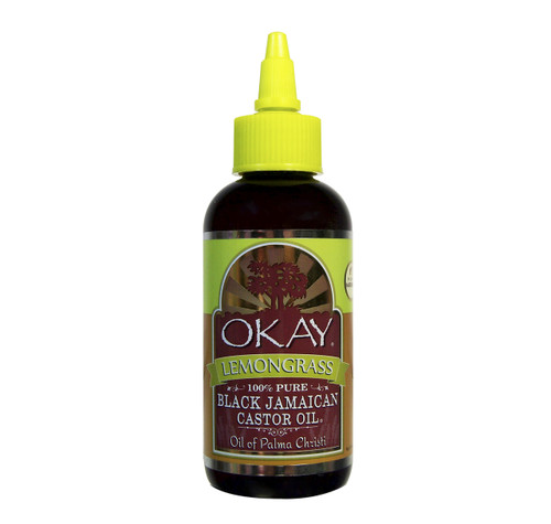 Black Jamaican Castor Oil With Lemongrass  -Helps Soothe Scalp & Skin- Improves Blood Circulation - Helps Naturally Grow Strong Healthy Hair, Helps Balance Oily Hair, Stimulate Hair Follicles - For all Hair & Skin Types- Made in USA- 4oz / 118ml