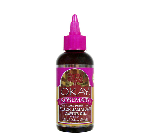 Black Jamaican Castor Oil With Rosemary Oil -Helps Soothe Scalp & Skin-Preventing Shedding & Graying Hair- Helps Naturally Grow Strong Hair, Helps Balance Oily Hair, Stimulate Hair Follicles - For all Hair & Skin Types- Made in USA- 4oz / 118ml